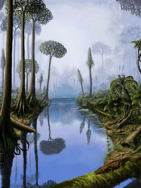 carboniferous  yuriy priymak  wonderful landscape drawing