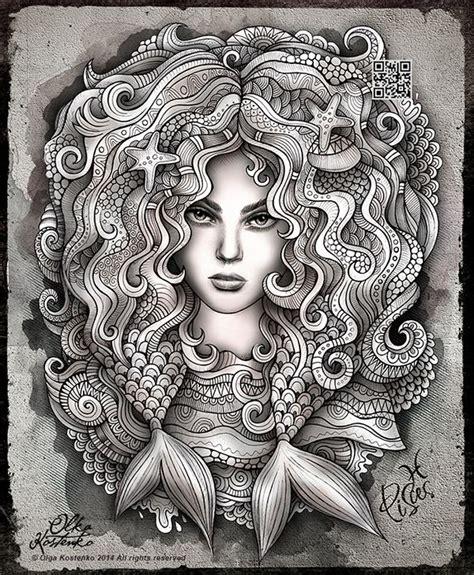 zodiac illustration pisces  behance zentangle zendoodle pinterest coloring supplies