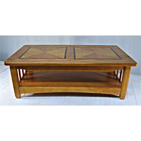 How to style a coffee table. Solid Wood Country Style Coffee Table | Chairish