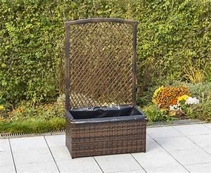 Pflanzkübel Mit Spalier : merxx spalier mit pflanzk bel 80 x 40 cm stahl mit kunststoffgeflecht braun ~ A.2002-acura-tl-radio.info Haus und Dekorationen