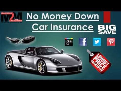 The states that allow people to buy automobile insurance with no money down are few and far between. Auto Insurance No Money Down - YouTube