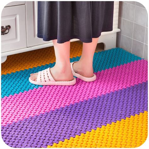 big feet mosaic kitchen  bathroom mats  slip mats