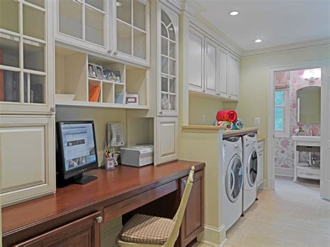 Kitchen Office Combo by Design Remodeling Inc Traditional Laundry Room