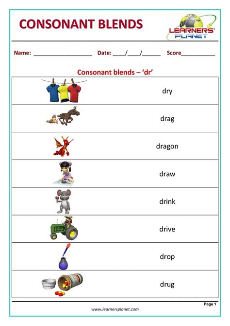 consonant blends reading activity consonant blends reading