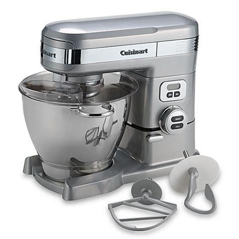 cuisine t cuisinart 5 5 quart stand mixer in brushed chrome bed