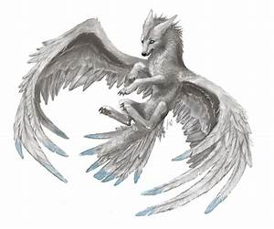 Winged Wolf by Kaly4 on DeviantArt