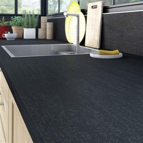 plan de travail cuisine stratifié leroy merlin plan de travail stratifié effet métal noir mat l 315 x p