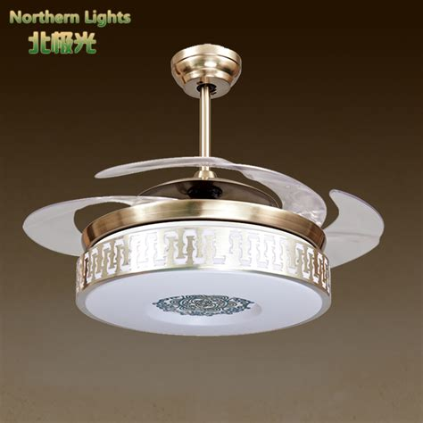 led luxury ceiling fan lights chandelier modern