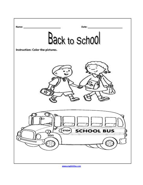 back to school worksheets for 5th graders back to school