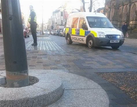 Police Van Has Trouble With New Church Street Lampposts