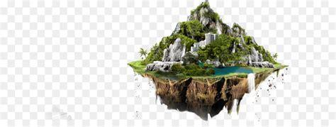 floating island png    transparent