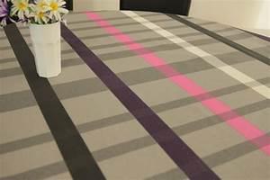 Abwaschbare Tischdecke Rund : grau dunkelgrau lila gestreift abwaschbar moderne ~ Michelbontemps.com Haus und Dekorationen