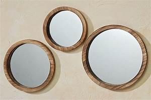 Spiegel Rund Groß : boltze 3er set spiegel jones aus holz glas braun haus garten wohnen dekoration ~ Indierocktalk.com Haus und Dekorationen