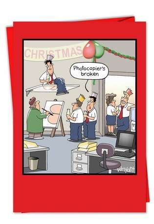 image gallery humorous office christmas card