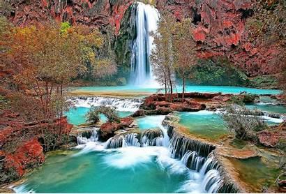 Screensavers Waterfall Wallpapers Nature Desktop Falls Colourful