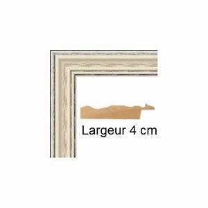 Cadre 60 X 80 : encadrement bois c rus blanc avec verre et dos prix discount sur cadre ~ Teatrodelosmanantiales.com Idées de Décoration