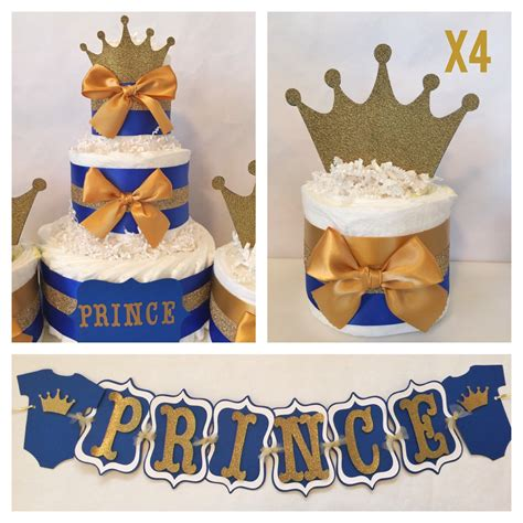 baby shower prince theme prince baby shower party package in royal blue and gold