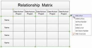 relationship matrix With service matrix template