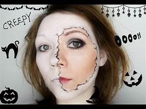 Halloween Make Up Puppe : halloween make up tutorial einfach schnell und g nstig brechende porzellan puppe youtube ~ Frokenaadalensverden.com Haus und Dekorationen