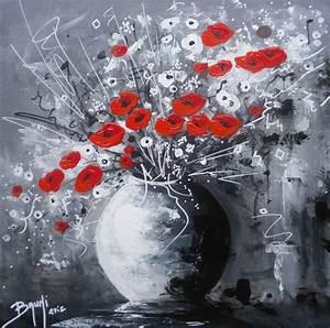 Tableau Peinture Moderne : bouquet de fleurs n 05 tableau peinture par l 39 artiste peintre bruni galerie de l 39 artiste ~ Teatrodelosmanantiales.com Idées de Décoration