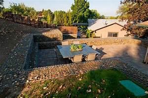 Backyard Design Utah Gabion Wall Foothills Backyard Stack Rock Group