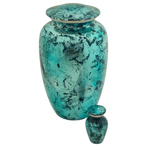 blue shimmer keepsake cremation urn  ashes