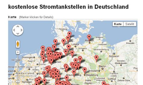 Ladestationen Fuer Elektroautos Interaktive Karte by Elektroauto Kostenlos Laden Eine 220 Bersicht Elektroauto