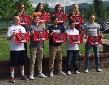 chs spring letter intent signings camas high school