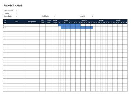 Gantt Chart Template Blank Gantt Chart Template Word Templates Resume