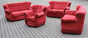 32 Sofagarnitur Chesterfield Couch Sofa Polster Garnitur