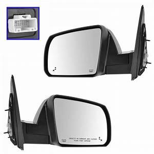 Mirror Power Heated Lane Assist Chrome Cap Lh  U0026 Rh Pair