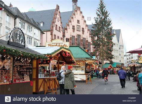 frankfurt germany december 9 market at town square on stock royalty free
