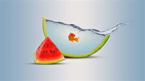 clickd water fruit photomanipulation orange clickd