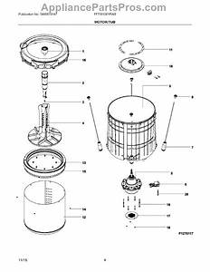 Parts For Frigidaire Fftw1001pw0  Motor    Tub Parts
