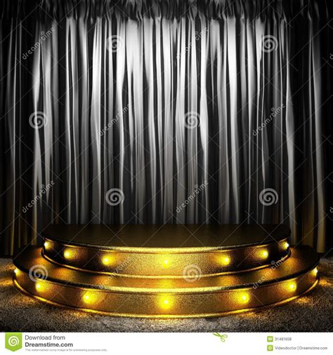 black fabric curtain on stage royalty free stock photos