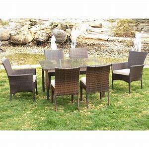 Table Et Chaise Camping : table de jardin 2 fauteuils tamaru et 4 chaises marzia avec coussins indoor outdoor bricozor ~ Nature-et-papiers.com Idées de Décoration
