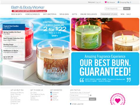 And Bath Collection Website by Bath Works Tropical Collection Home Fragrances