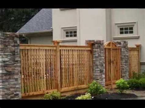 home fencing design ideas youtube