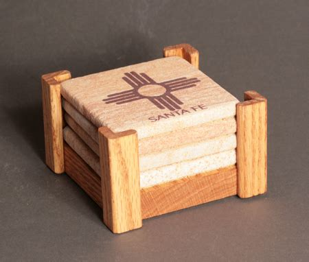 sandstone coaster holder