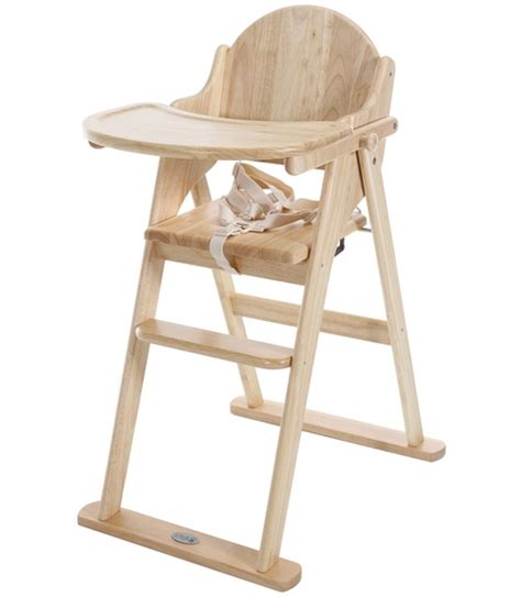chaise haute roba wood high chair with tray