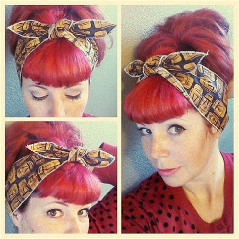High Quality Images For Rockabilly Bandana Hairstyles For Long Hair