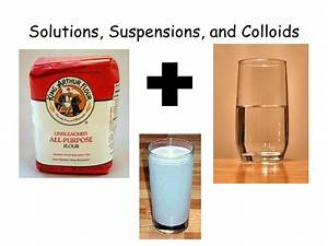 Solutions, suspensions, and colloids