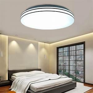 Deckenleuchte Für Schlafzimmer : 24w led deckenleuchte deckenlampe deckenlicht f r schlafzimmer bad balkon k che ~ Indierocktalk.com Haus und Dekorationen