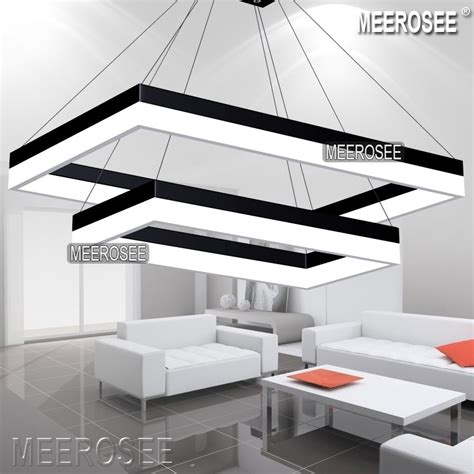 led pendant light modern rectangle black pendant