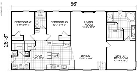 house plans with and bathrooms home 28 x 56 3 bed 2 bath 1493 sq ft house