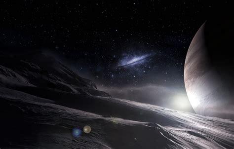 Обои космос, звезды, поверхность, планеты, арт, галактика