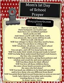 First School Day Prayer