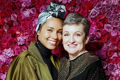Alicia Keys Mother Stage Treasure Terria Joseph