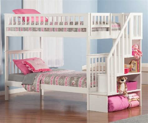 Cute Living Room Ideas For Small Spaces by Cheap Bunk Beds For Girls With White Wooden Beds Frame