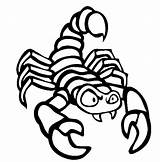 Scorpion Coloring Pages Animals Animal Printable Preschool Thecolor Sheet Cartoon Insect Worksheets sketch template